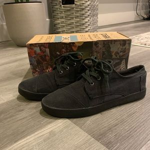 Toms Laced Black Paseo Shoes